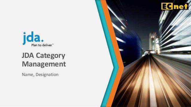 JDA Category Management Name, Designation