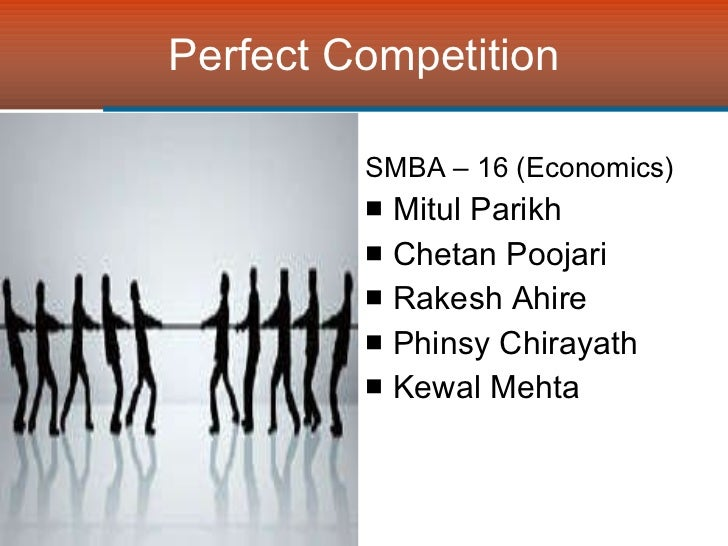 Managerial Economics Perfect Competition