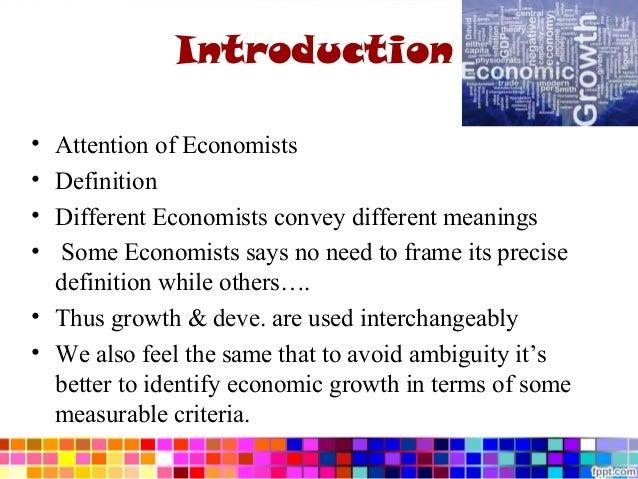 some economics defintion