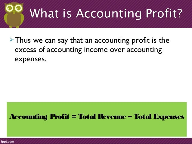what is economic profit Difference between a firm's accounting and economic profit.