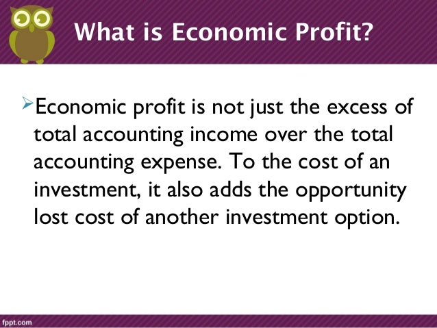 what is the difference between accounting and economic profit