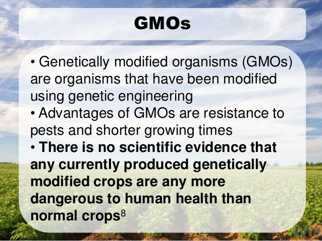 Advantages Of Genetically Modified Food On Human Health