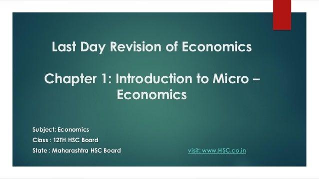 Economics Notes- Introduction to Micro-Economics