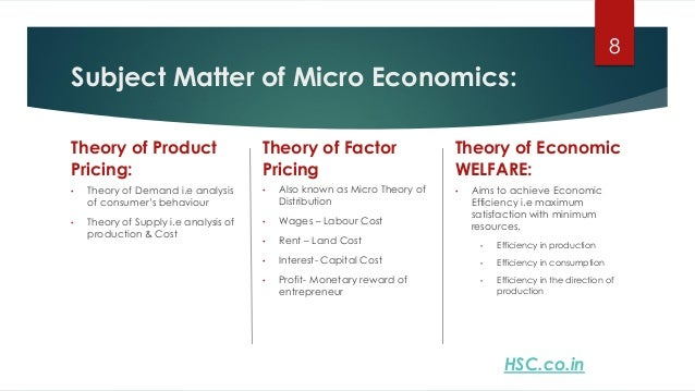 an introduction to the microeconomic policy issue This is a core course in introductory microeconomic theory, introducing students  to  provide to society and their limitations in dealing with certain problems   main topics: how product markets work, how government policies affect markets, .