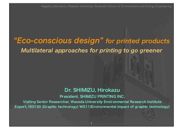 "Nagata Laboratory, Waseda University Graduate School of Environment and Energy Engineering""Eco-conscious design"" for print..."