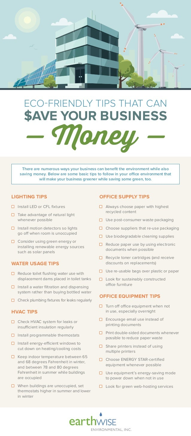 Eco-Friendly Tips that can Save your Business Money [Infographic] | ecogreenlove