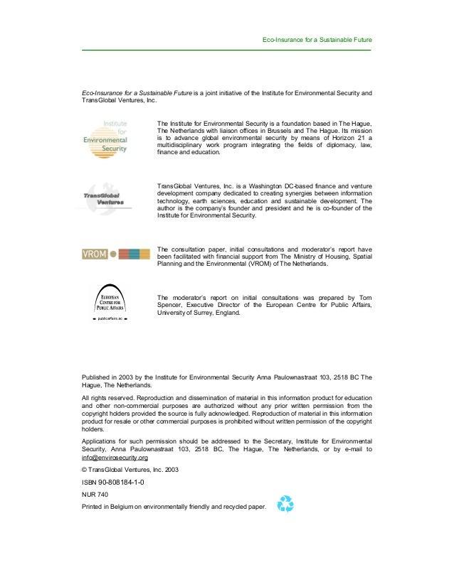 Eco insurance consultation paper Slide 2