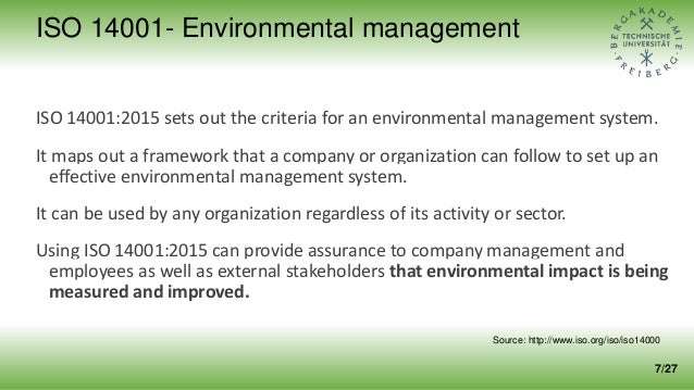 ISO 14001:2015 sets out the criteria for an environmental management system. It maps out a framework that a company or org...