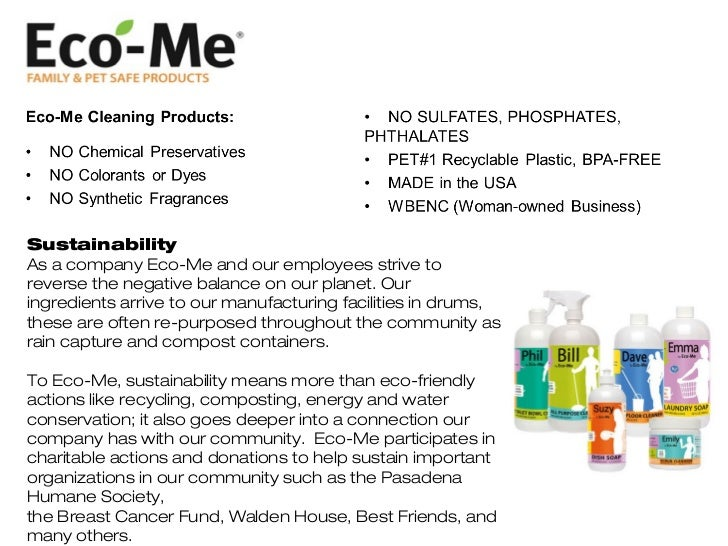 Whole Foods Eco Cleaning Products
