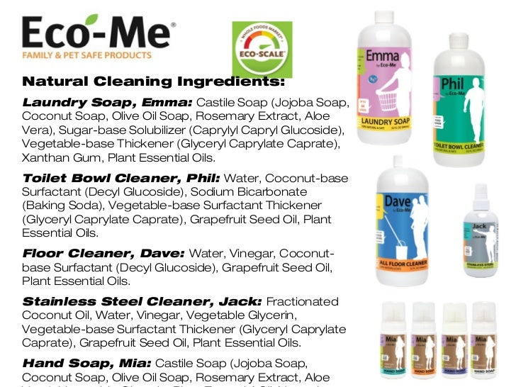 Eco Me 100 Natural Cleaning Products