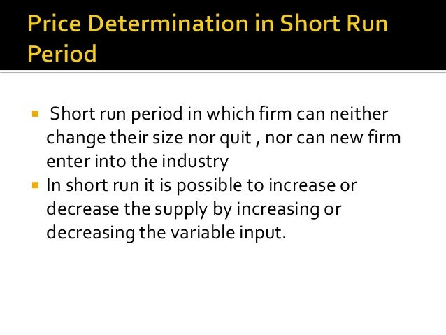 explain price determination in an industry under perfect competition