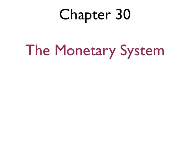 Chapter 30The Monetary System