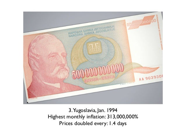 1. Hungary 1946Highest monthly inflation: 13,600,000,000,000,000%         Prices doubled every: 15.6 hours