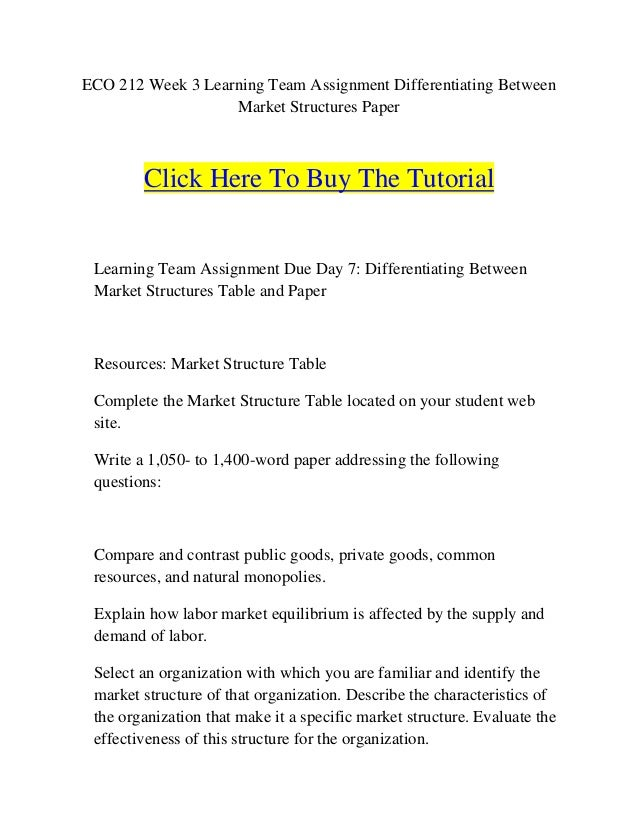 differentiating between market structures term paper Market structures are an important concept in macroeconomics, but it's also very  confusing i want to help you understand this topic in this comprehensive lesson.