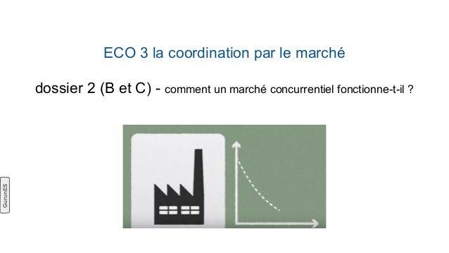 ECO 3 la coordination par le marché dossier 2 (B et C) - comment un marché concurrentiel fonctionne-t-il ? GurunES