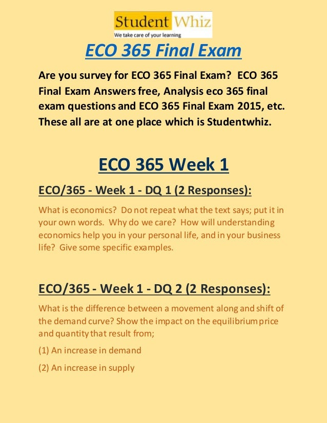 Article Analysis for ECO/365 Essay