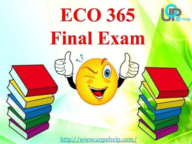 Uop eco 365 week 2 individual