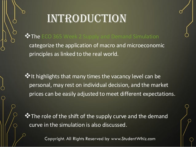 eco 365 supply and demand Eco 365 week 1 individual assignment supply and demand curve worksheet (2 sets) for more course tutorials visit wwwtutorialrankcom this tutorial contains 2 sets of worksheet complete the supply and demand curve worksheet.