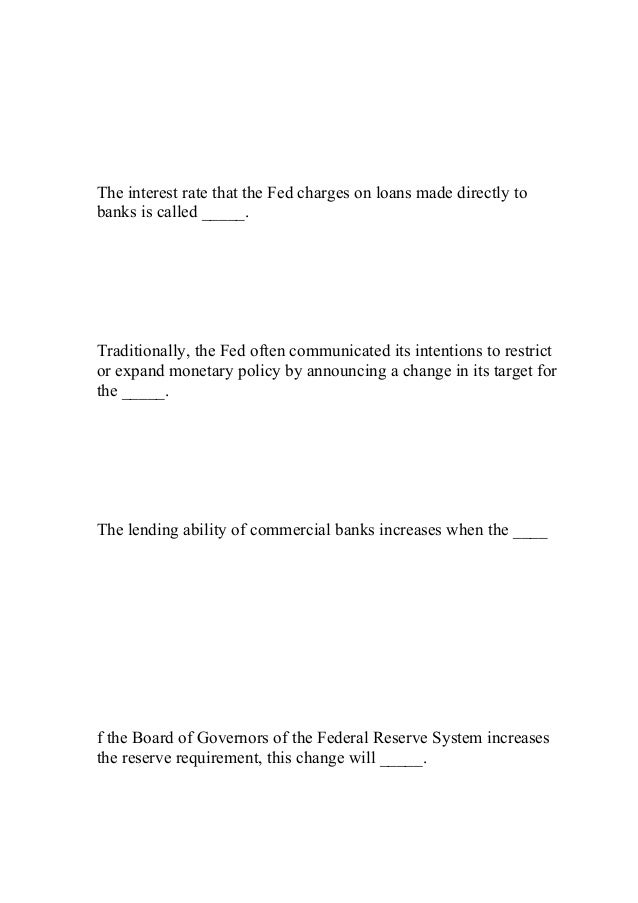 Eco 372 Apply Week 5 Fiscal And Monetary Policy Homework