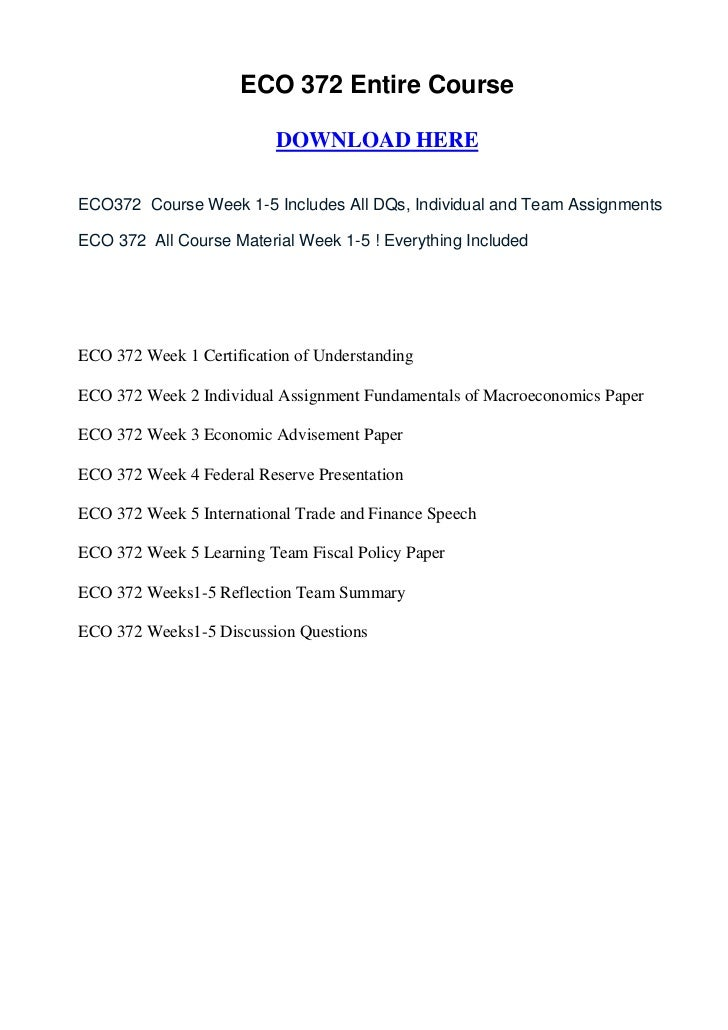 eco 372 syllabus Psy 400 group influence assessment paper (new syllabus.