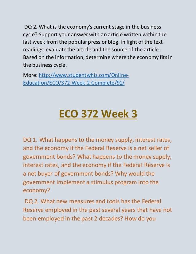 eco 372 principles of macroeconomics final exam Eco 372 week 1 ten principles of economics and the data  eco 372 week 1 ten principles of economics and the data of macroeconomics   eco 372 final exam eco.