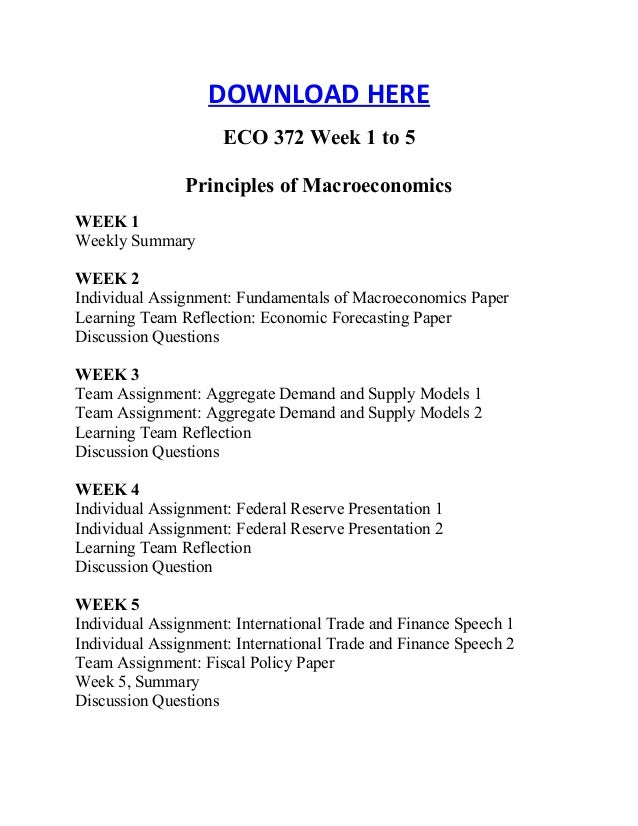 fundamentals of macroeconomics eco372 Order this paper written from scratch on discount order now question week 1 fundamentals of macroeconomics paper writea 700- to 1,400-word paper summarizing the results.