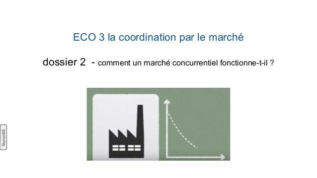 ECO 3 la coordination par le marché dossier 2 - comment un marché concurrentiel fonctionne-t-il ? GurunES
