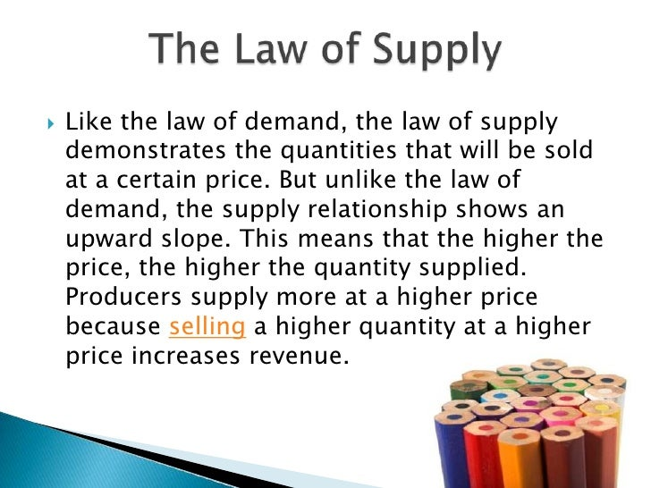 law of supply 2 microeconomics and the law of supply and demand introduction the supply  and demand simulation, addresses microeconomics and macroeconomics.