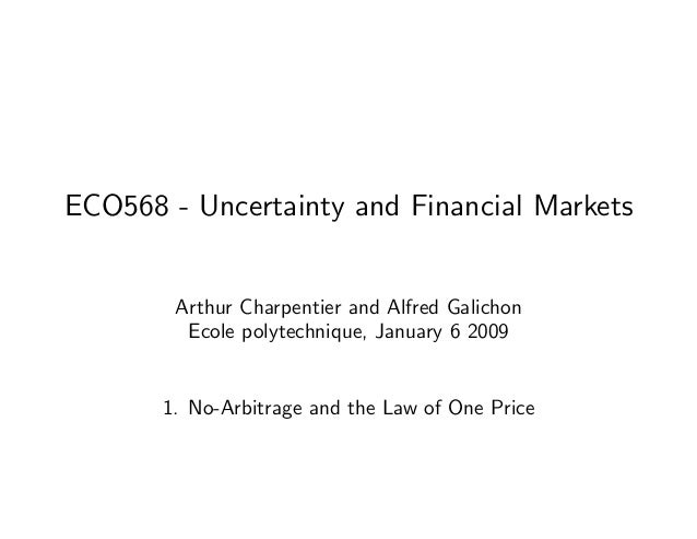 ECO568 - Uncertainty and Financial Markets Arthur Charpentier and Alfred Galichon Ecole polytechnique, January 6 2009 1. N...