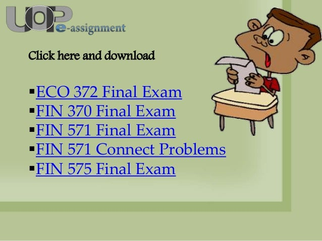 Eco 561 final exam answers uop courese