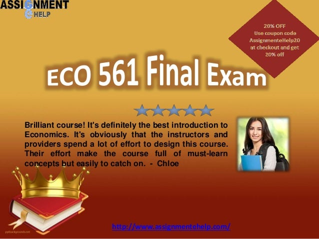 Uop eco 561 mba exam questions