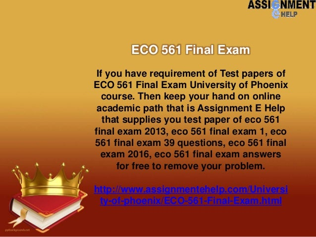 eco 212 final exam Browse this and other study guides, notes and flashcards at studysoup eco 212 final exam 1 ask a homework question 38 virtual teaching assistants online now.