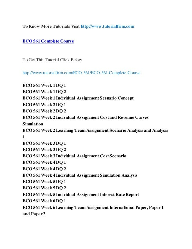eco 316 week 2 dq 1 Eco 316 entire course for more course tutorials visit wwwshoptutorialcom derscription eco 316 week 1 dq 1 should you invest short term eco 316 week 1 dq 2 treasury inflation protection bonds.