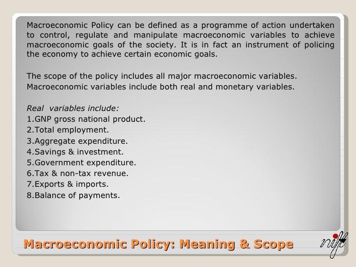 macroeconomic policy definition