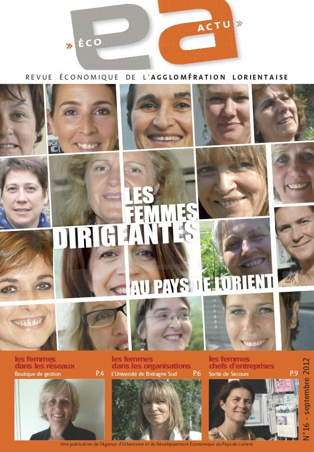 ACTU  >>  >> É C O  REVUE  ÉCONOMIQUE  DE  L'AGGLOMÉRATION  LORIENTAISE  LES FEMMES  IRIGEANTES D  les femmes dans les rés...