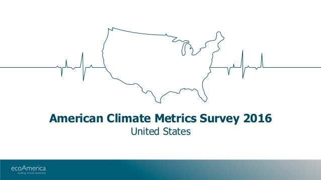 American Climate Metrics Survey 2016 United States