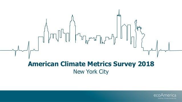 American Climate Metrics Survey 2018 New York City