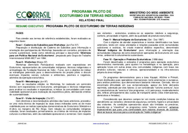 Eco brasil indigena_mma+funai_ecoturismoti_resumo_jun1998 Slide 3