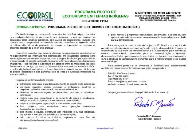 PROGRAMA PILOTO DE                                               MINISTÉRIO DO MEIO AMBIENTE                              ...