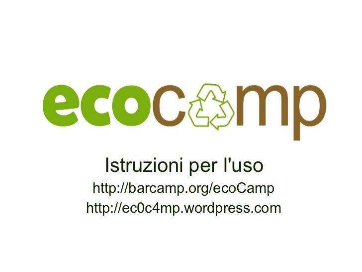 ecoCamp BarCamp su ambiente