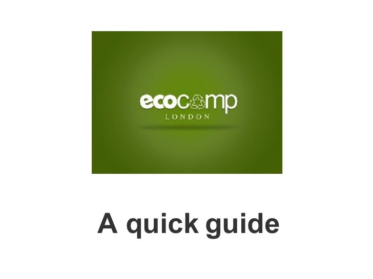 ecoCampLondon Guide