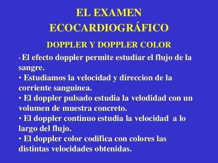 Abordaje supraesternal.</li></li></ul><li>EL EXAMEN ECOCARDIOGRÁFICO<br />VENTANAS ACÚSTICAS<br />AO<br />AP<br />VD<br /...