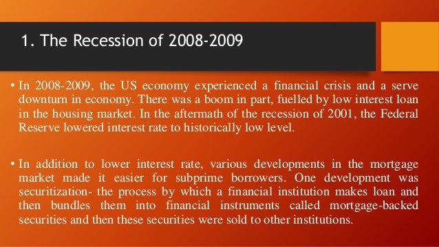 The Great Recession | Case Study Template