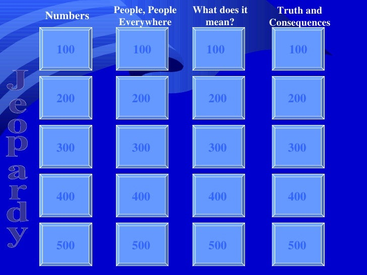 People, People   What does it    Truth and           Numbers                      Everywhere        mean?        Consequen...