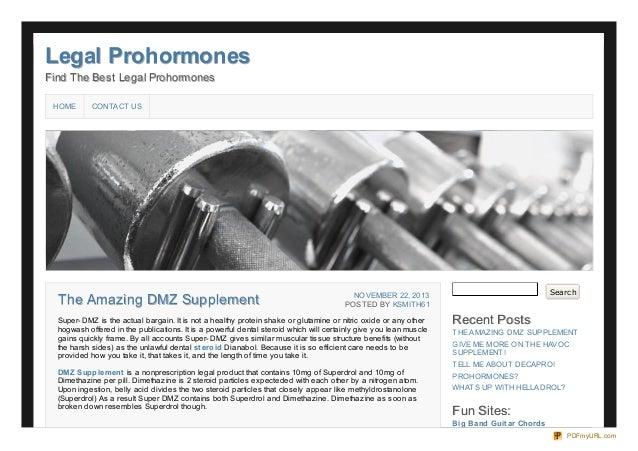 Legal Prohormones