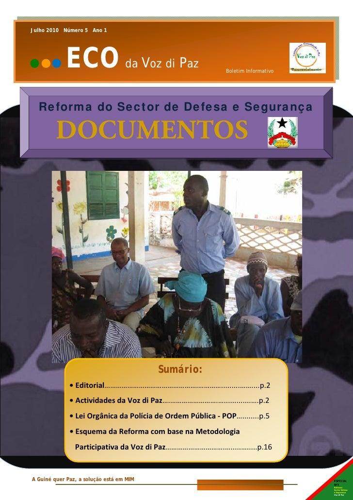 Julho 2010      Janeiro 2010Número 5 0 Ano 1                   Número     Edição1                          ECO da Voz di P...