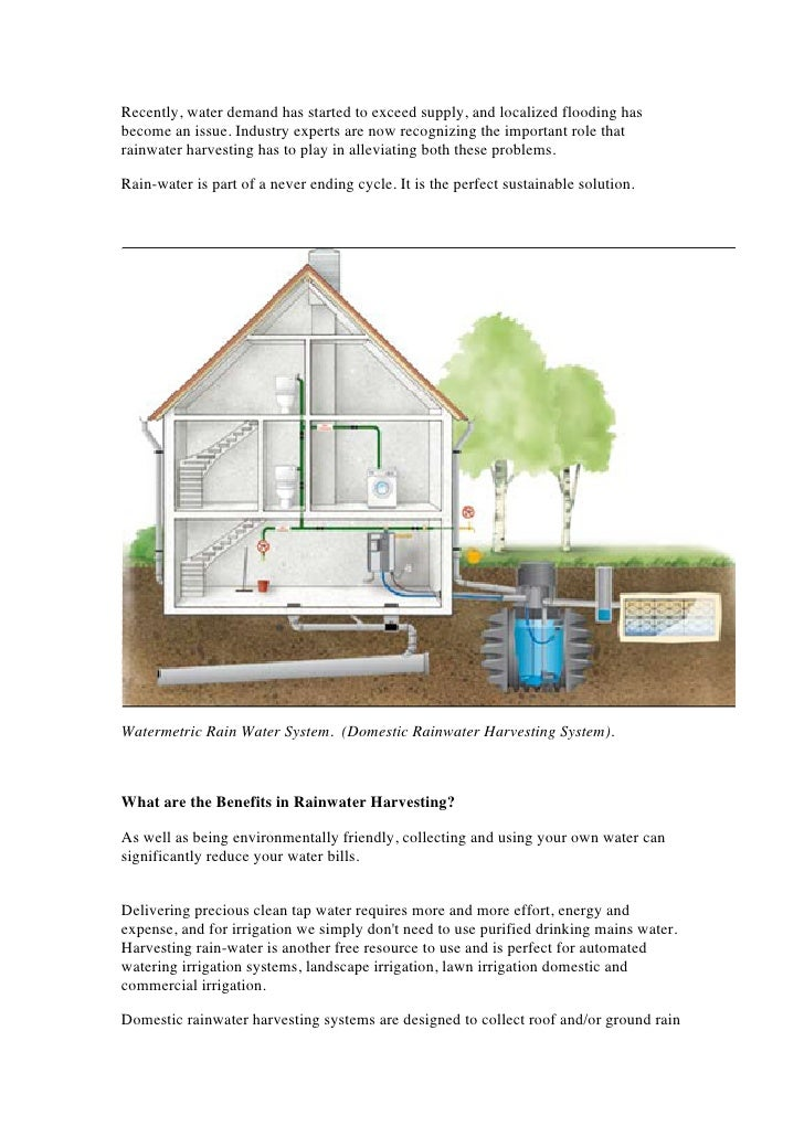 Rainwater Harvesting Roofs Rainwater Harvesting Systems G