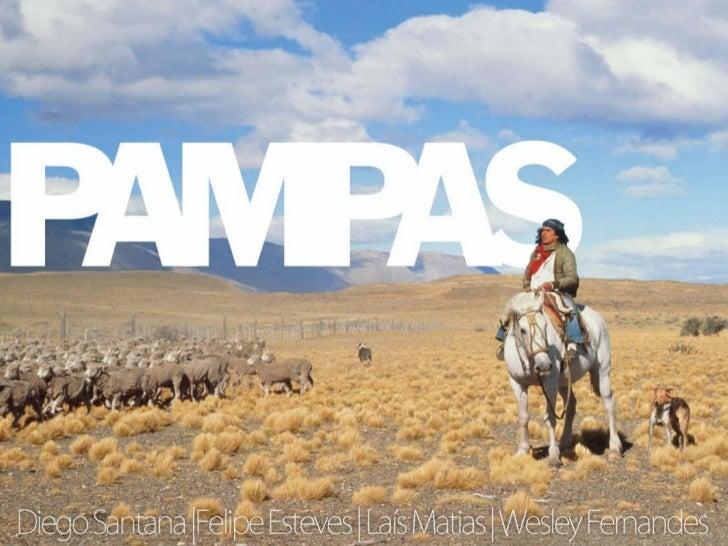 Localização• Nome de origem quéchua (indígena) significa  região plana• Também chamado de Campos Sulinos• Localizados entr...