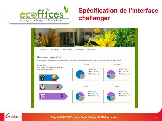 - 10Spécification de l'interfacechallengerBrigitte TROUSSE - Inria Sophia Antipolis Méditerranées