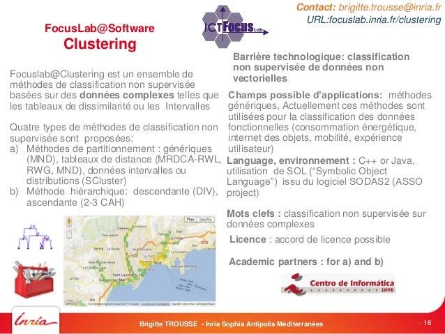 FocusLab@SoftwareClusteringFocuslab@Clustering est un ensemble deméthodes de classification non superviséebasées sur des d...